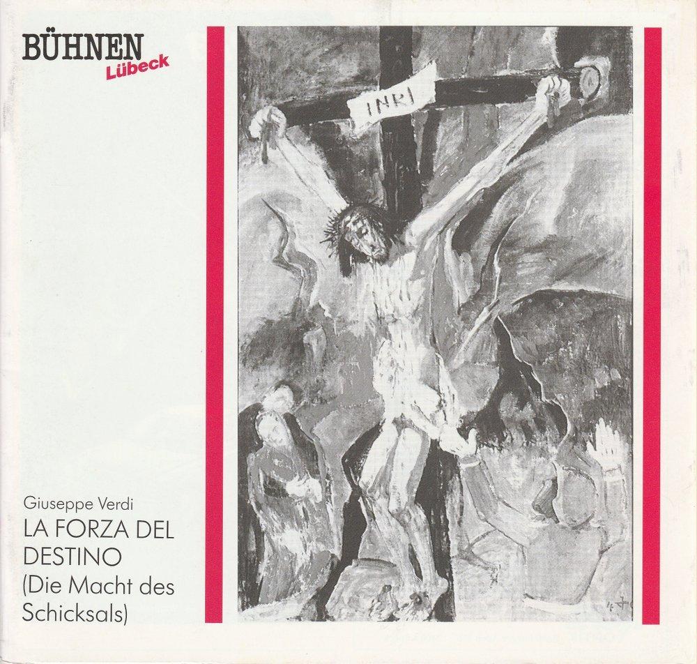 Programmheft Giuseppe Verdi LA FORZA DEL DESTINO Bühnen Lübeck 1990