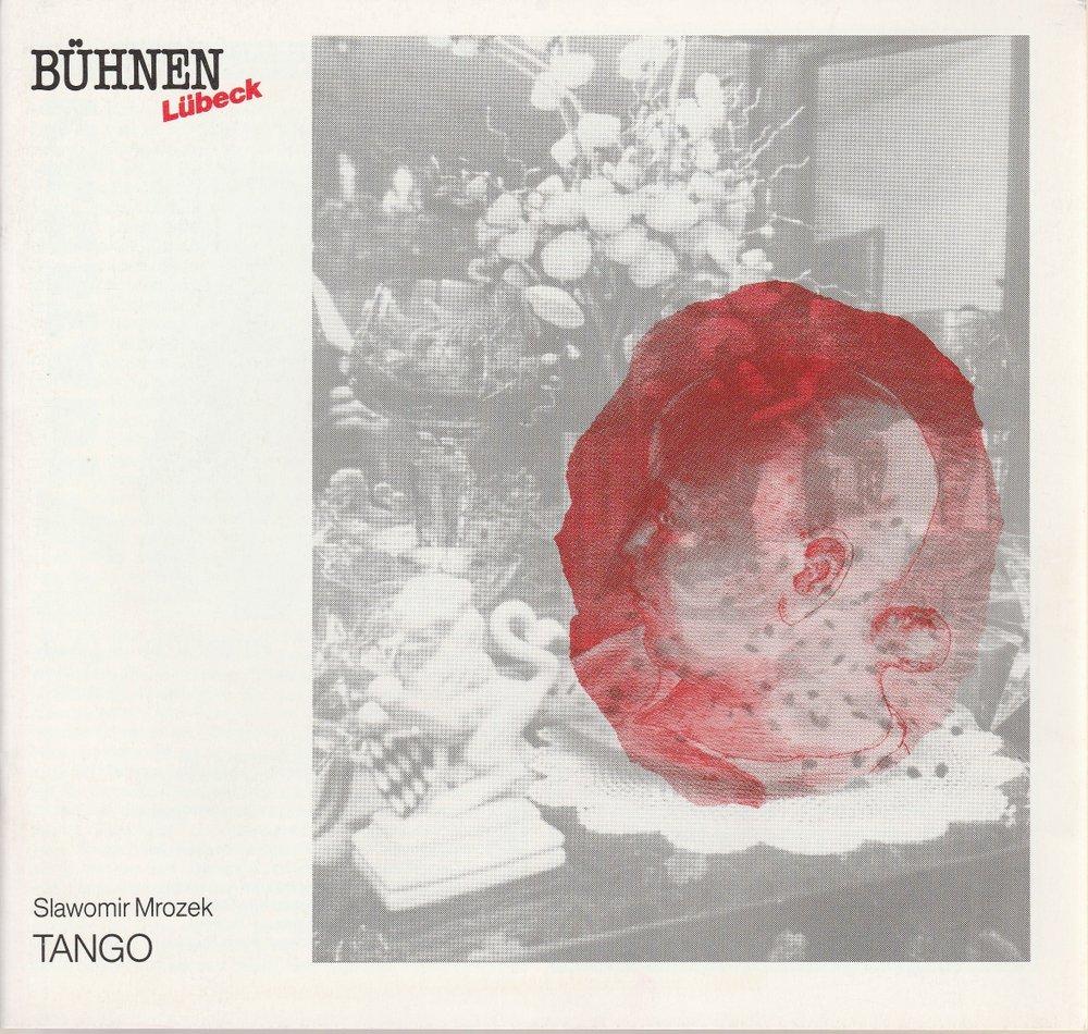 Programmheft Slawomir Mrozek TANGO Bühnen Lübeck 1990