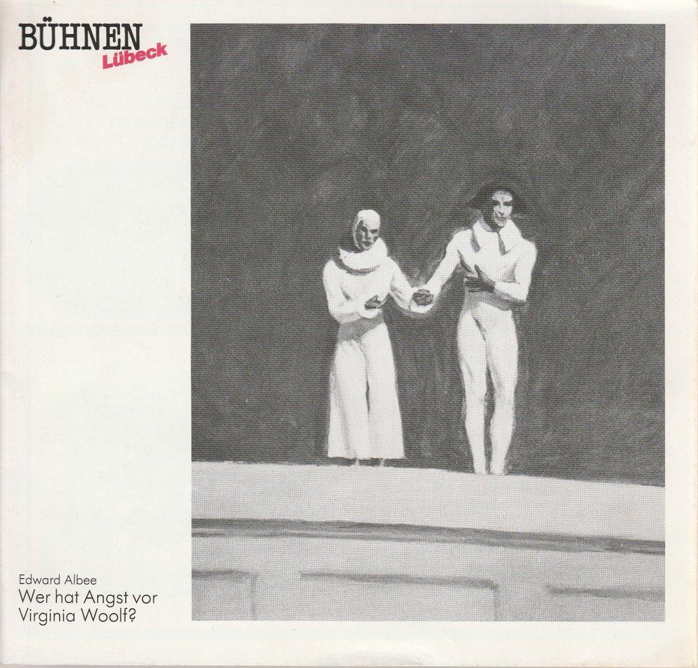 Programmheft Edward Albee WER HAT ANGST VOR VIRGINIA WOOLF? Bühnen Lübeck 1988