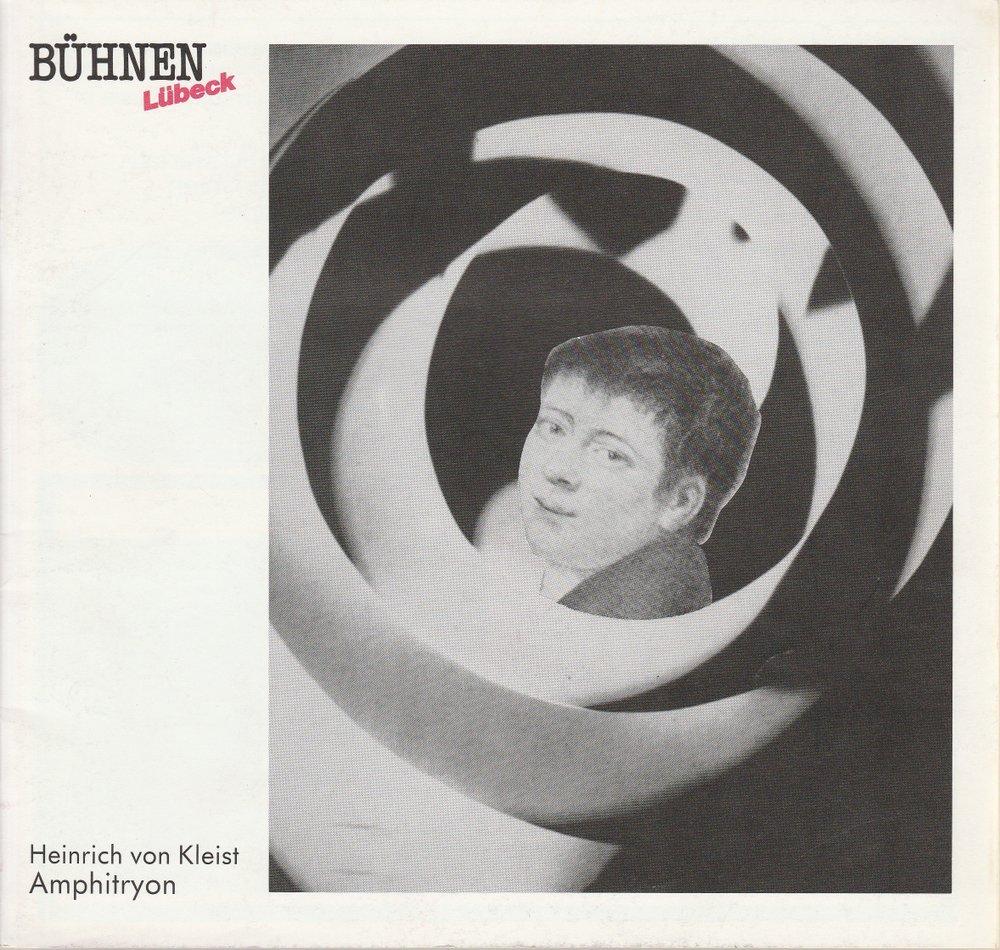 Programmheft Heinrich von Kleist AMPHITRYON Bühnen Lübeck 1987