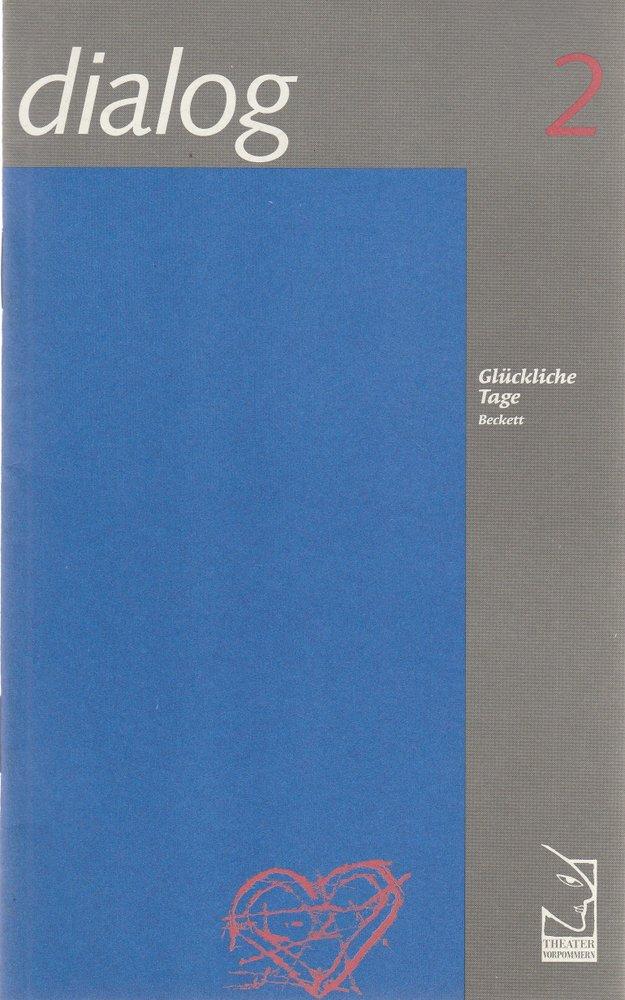 Programmheft Samuel Beckett GLÜCKLICHE TAGE Theater Vorpommern 1995
