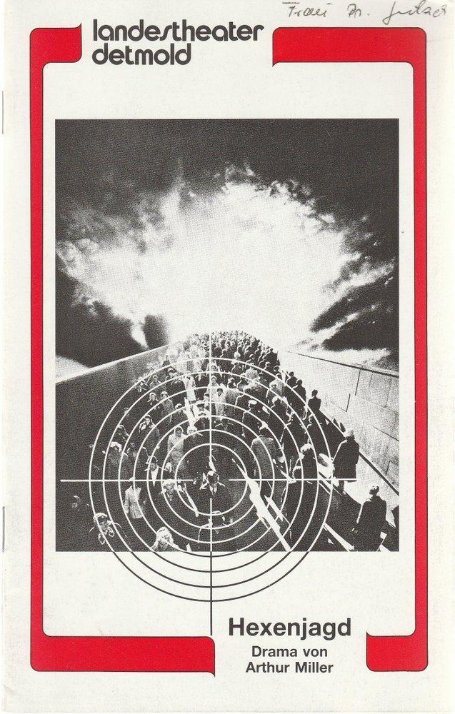 Programmheft Arthur Miller HEXENJAGD Landestheater Detmold 1985