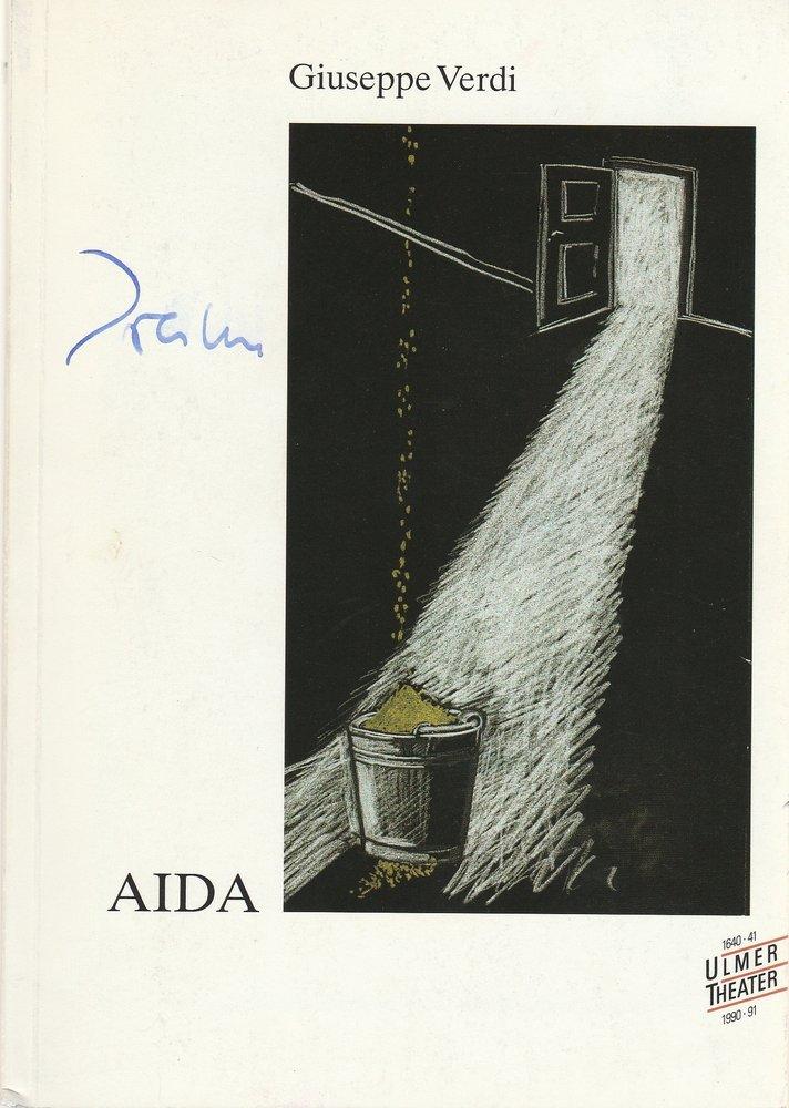 Programmheft Guiseppe Verdi AIDA Ulmer Theater 1990