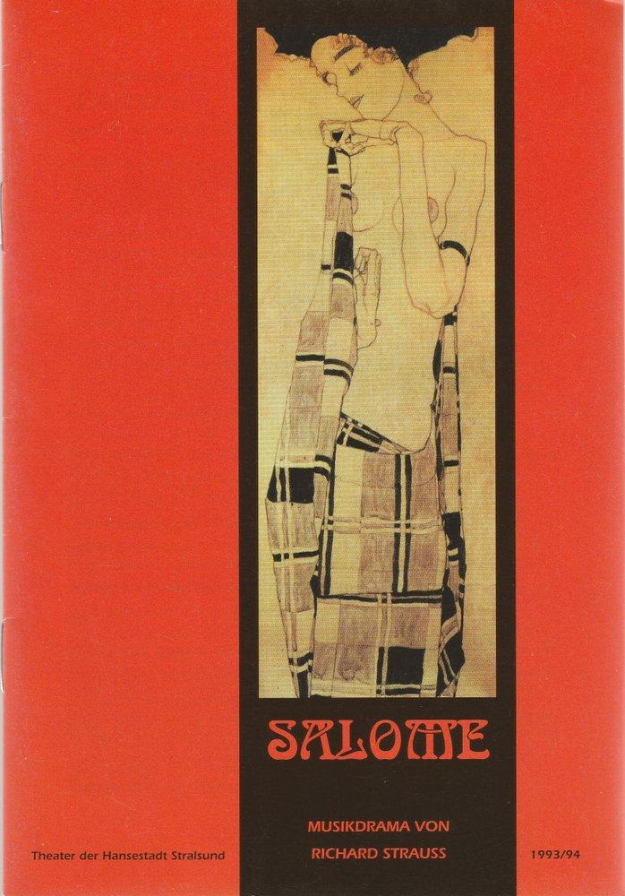 Programmheft Richard Strauss SALOME Theater der Hansestadt Stralsund 1994