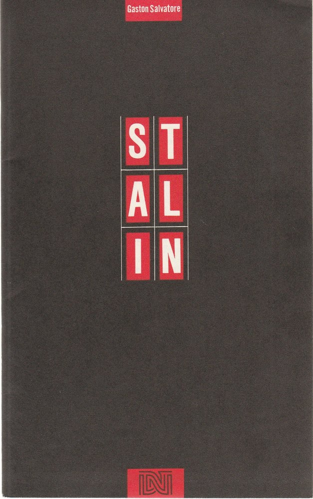 Programmheft Gaston Salvatore STALIN Deutsches Nationaltheater Weimar 1990