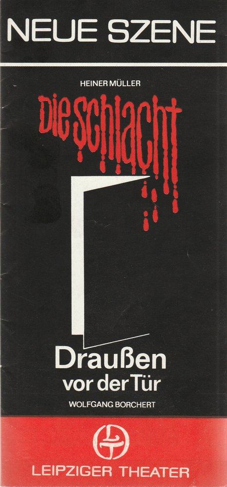 Programmheft Heiner Müller DIE SCHLACHT Leipziger Theater 1985