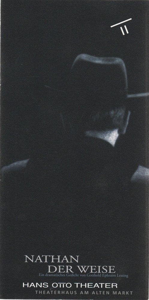 Programmheft Gotthold Ephraim Lessing NATHAN DER WEISE Hans Otto Theater 1995