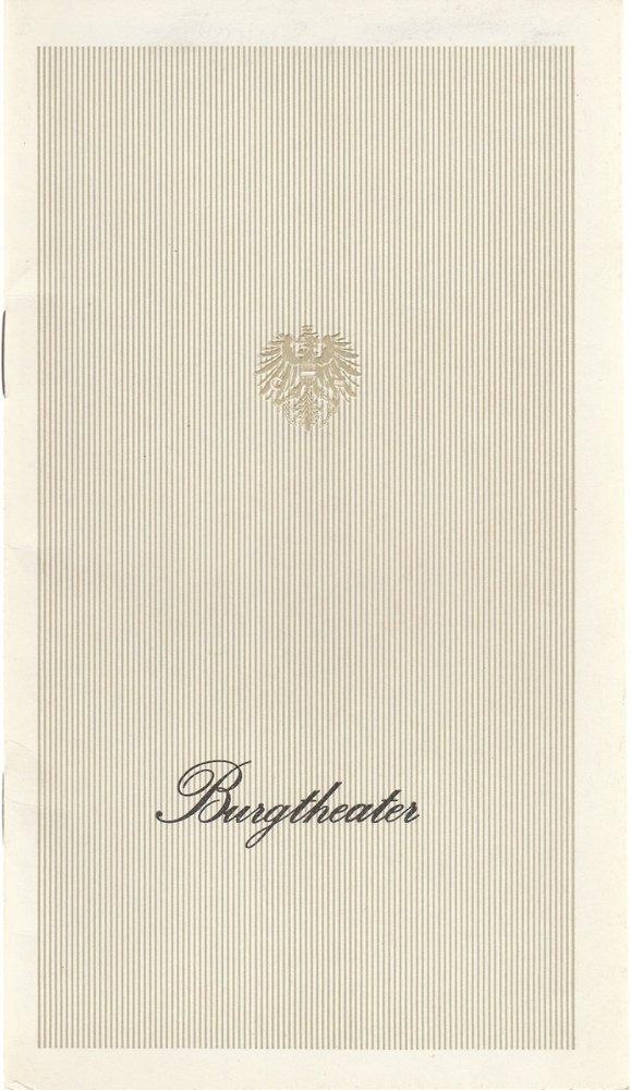 Programmheft Gotthold Ephraim Lessing NATHAN DER WEISE Burgtheater 1973