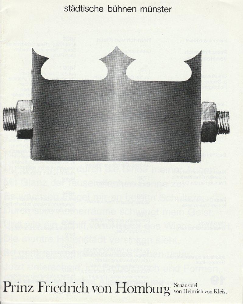 Programmheft Heinrich v. Kleist PRINZ FRIEDRICH V. HOMBURG Bühnen Münster 1980