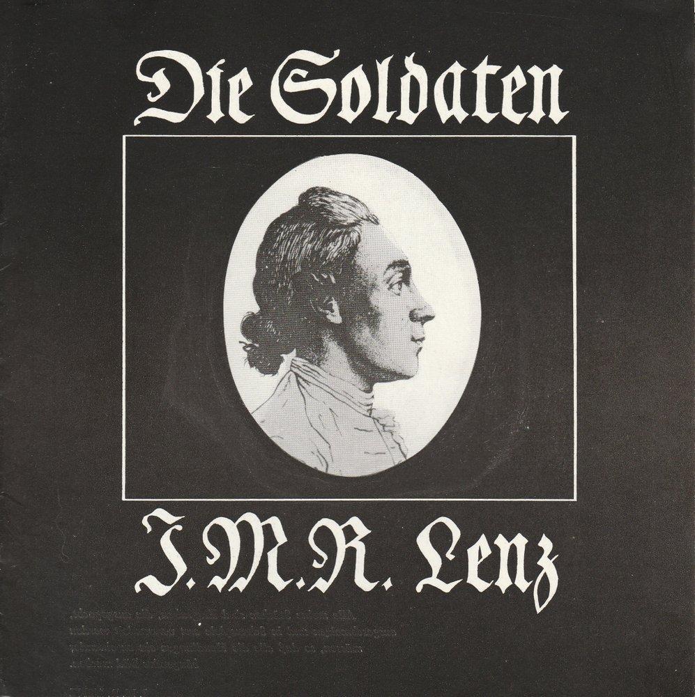 Programmheft Jakob Michael Reinhold Lenz DIE SOLDATEN Theater Stralsund 1980
