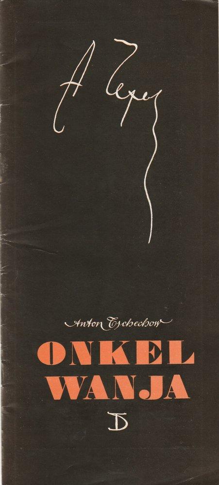 Programmheft Anton Tschechow ONKEL WANJA Deutsches Theater Berlin 1972