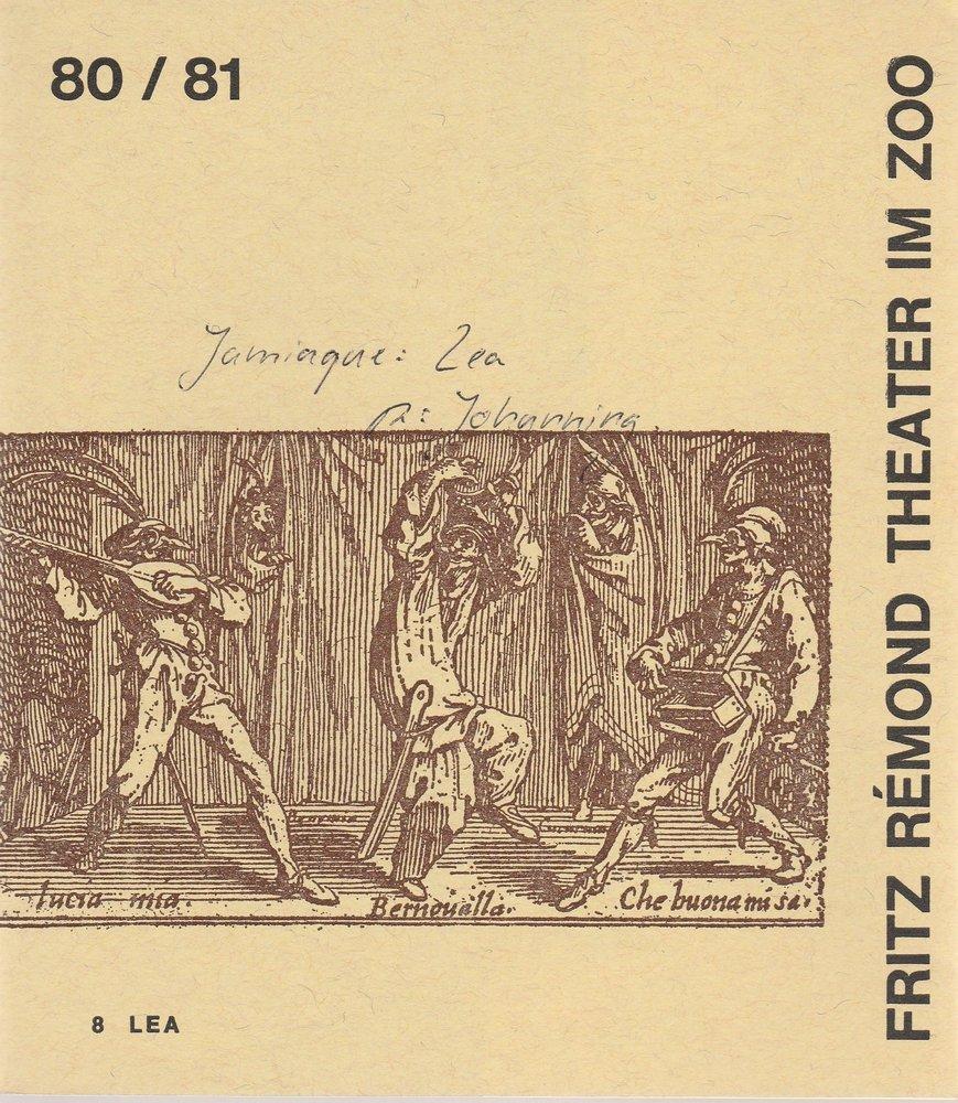 Programmheft LEA von Yves Jamiaque Fritz Remond Theater am Zoo  1981