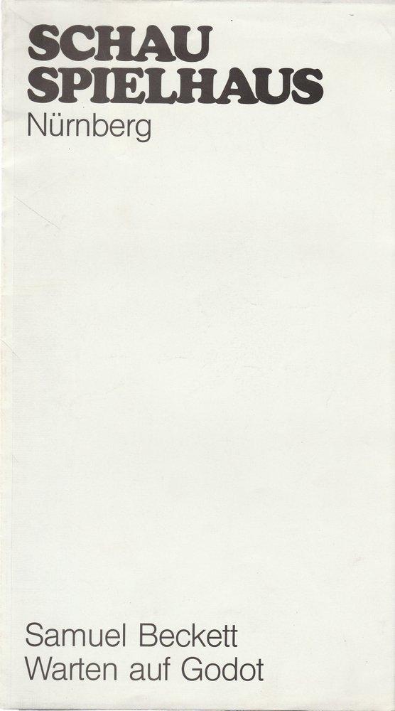 Programmheft Samuel Beckett WARTEN AUF GODOT Bühnen Nürnberg 1980