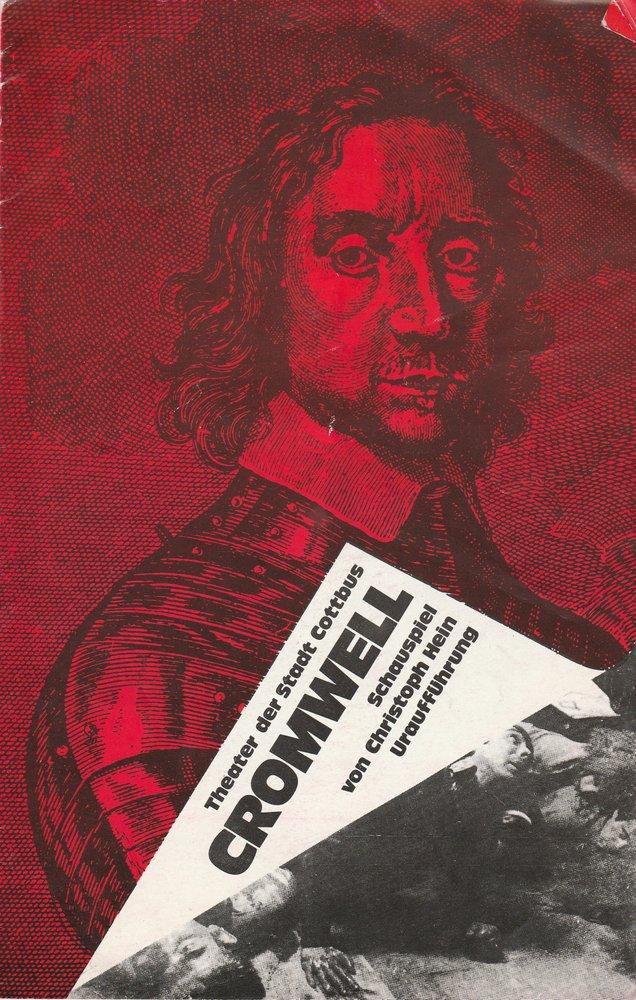 Programmheft Uraufführung Christoph Hein CROMWELL Theater Cottbus 1980
