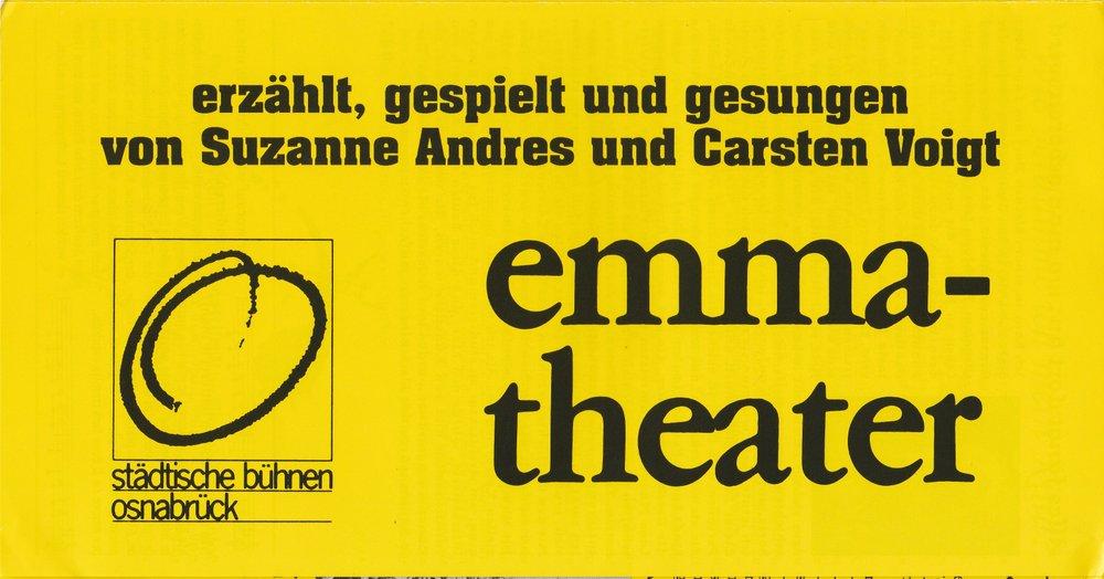 Programmheft D. Fo u. F. Rame OBSZÖNE FABELN GESCHICHTEN Bühnen Osnabrück 1990