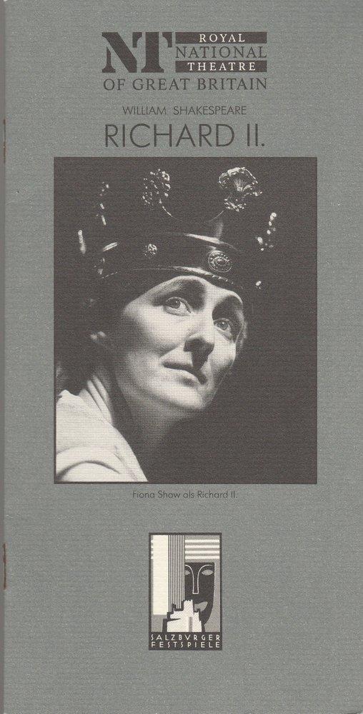 Programmheft William Shakespeare RICHARD III Salzburger Festspiele 1996