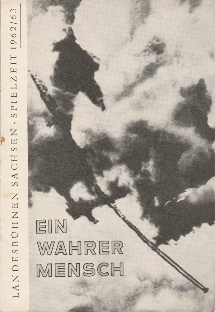 Programmheft Sergej Prokofjew EIN WAHRER MENSCH Landesbühnen Sachsen 1963