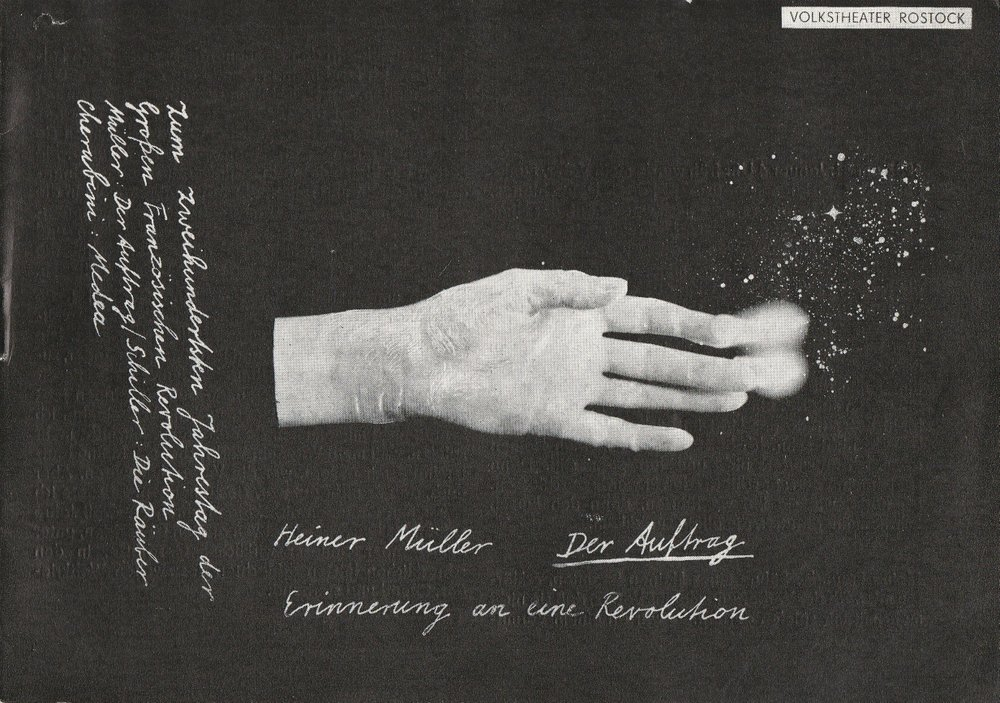 Programmheft Heiner Müller DER AUFTRAG Volkstheater Rostock 1989