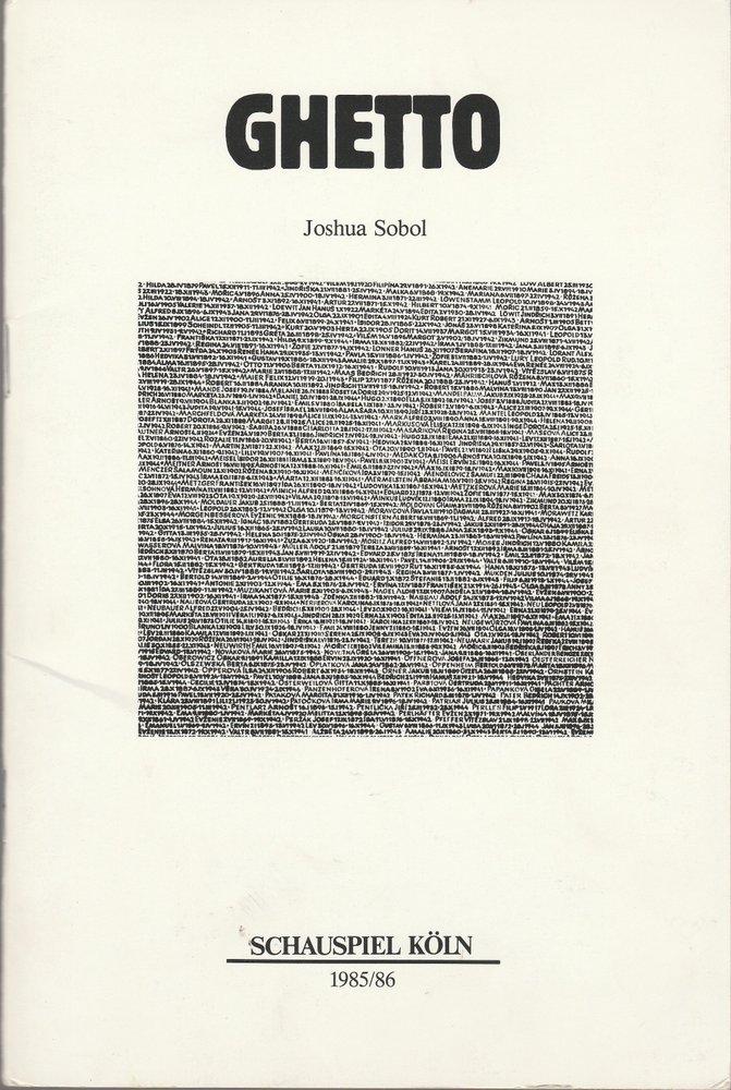 Programmheft Joshua Sobol GHETTO Schauspiel Köln 1985