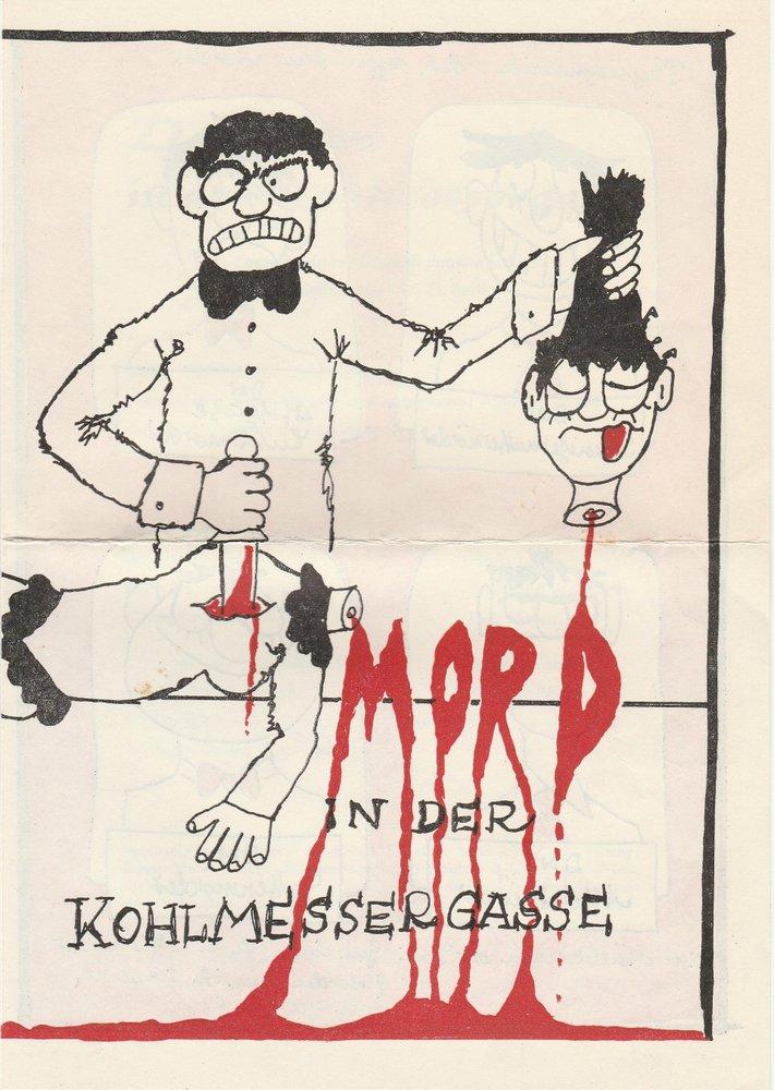 Programmheft Eugene Labiche MORD IN DER KOHLMESSERGASSE Theater Altmark 1984