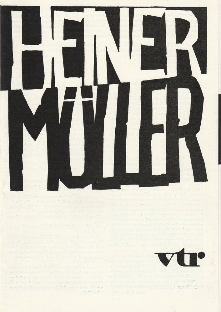 Programmheft Heiner Müller WOLOKOLAMSKER CHAUSSEE I-III Theater Rostock 1988