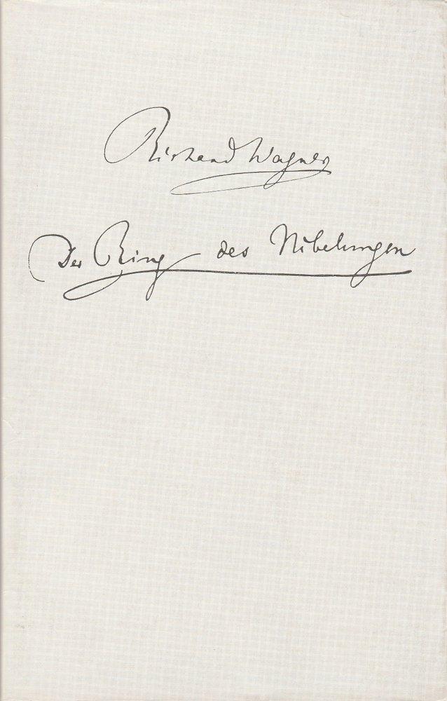 Programmheft Richard Wagner RING DES NIBELUNGEN Dtsch. Staatsoper Berlin 1973