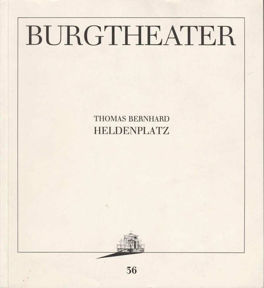 Programmheft Uraufführung Thomas Bernhard HELDENPLATZ Burgtheater Wien 1988