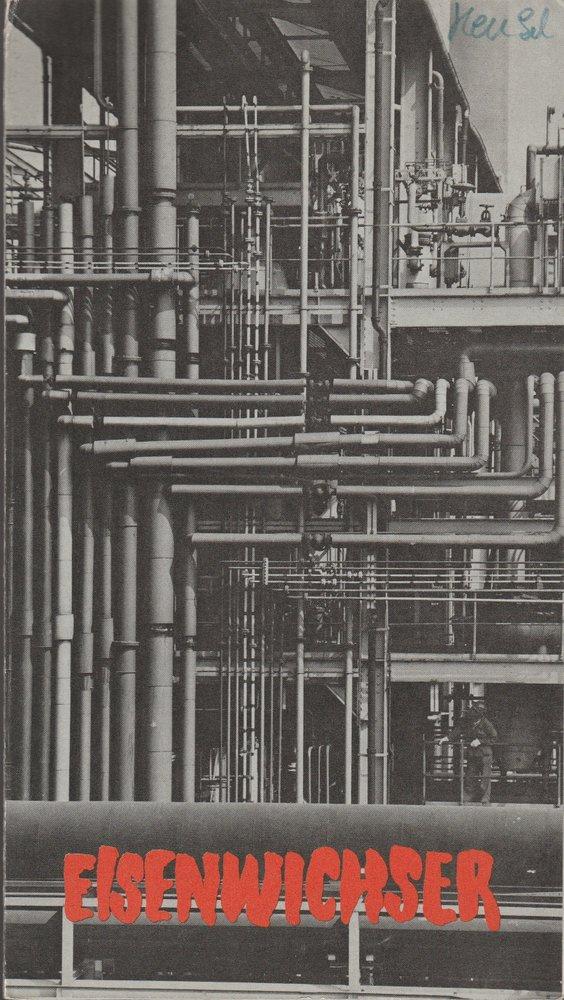 Programmheft Heinrich Henkel EISENWICHSER Bühnen Köln 1971