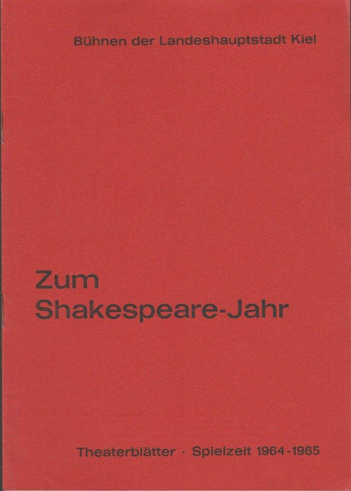 Programmheft William Shakespeare WIE ES EUCH GEFÄLLT Bühnen Kiel 1965