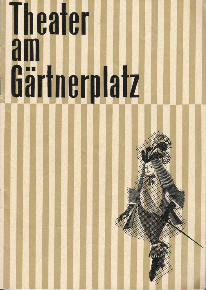 Programmheft Johann Strauss EINE NACHT IN VENEDIG Theater am Gärtnerplatz 1962
