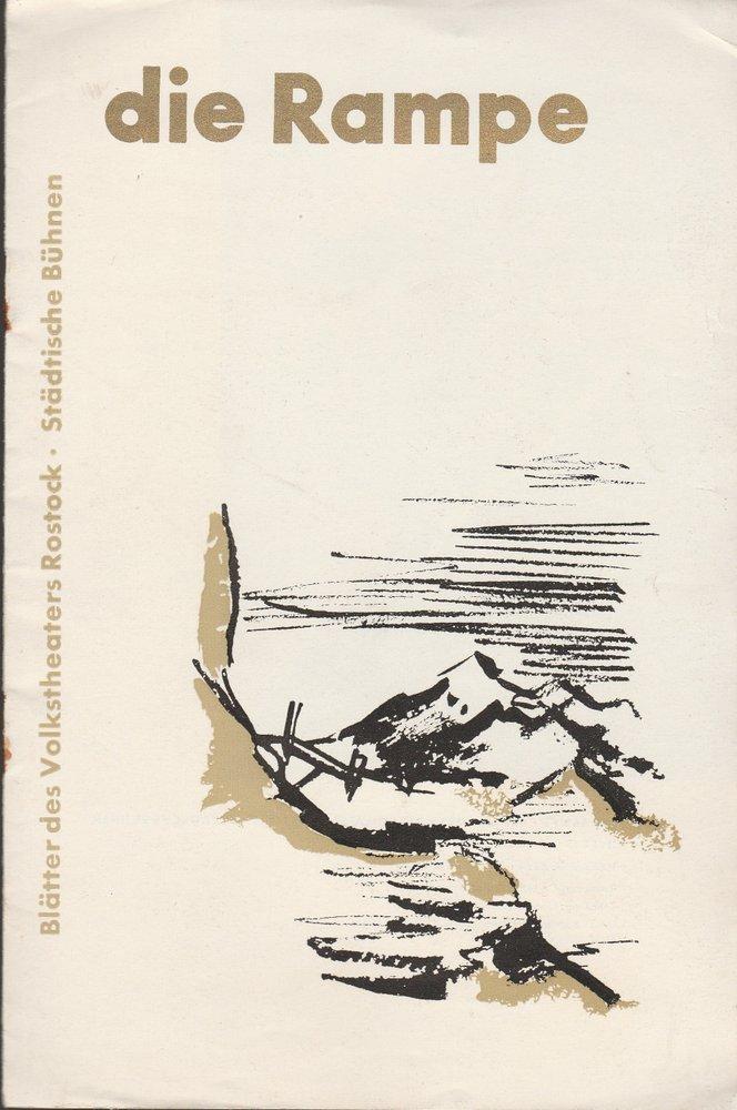 Programmheft Eugen d'Albert TIEFLAND Volkstheaters Rostock 1956