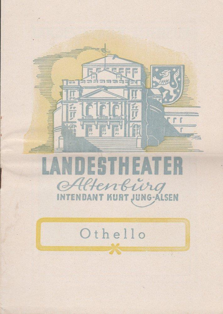 Programmheft Giuseppe Verdi OTHELLO Landestheater Altenburg 1951