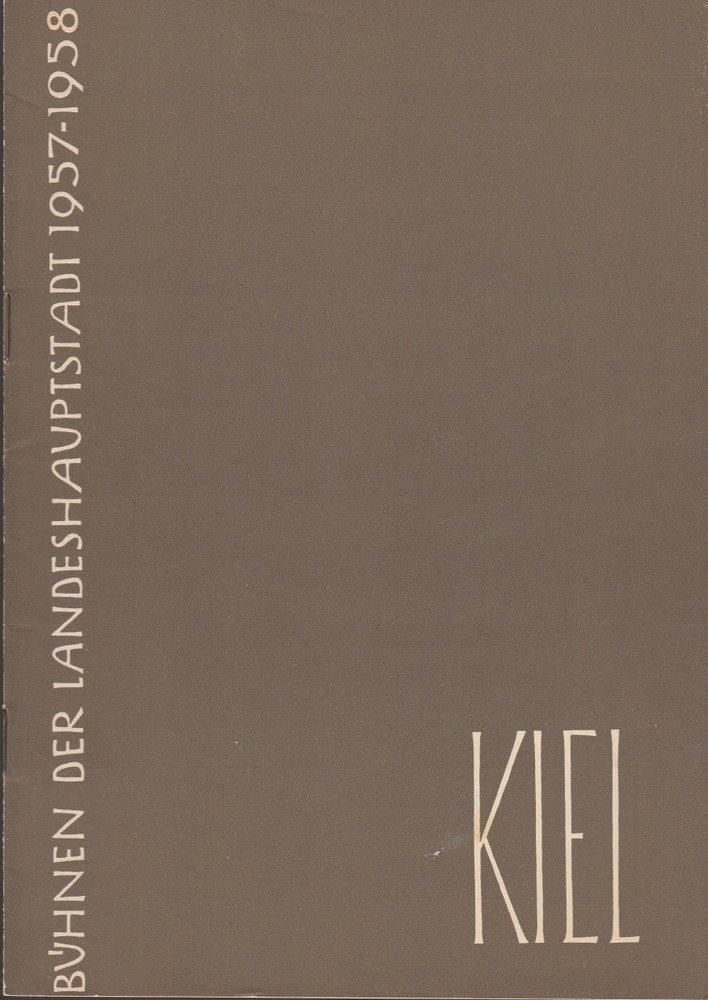 Programmheft Wolfgang Amadeus Mozart COSI FAN TUTTE Bühnen Kiel 1958