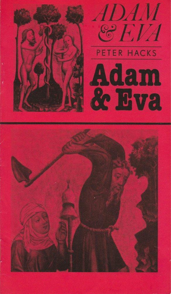 Programmheft Peter Hacks ADAM UND EVA Landesbühnen Sachsen 1985