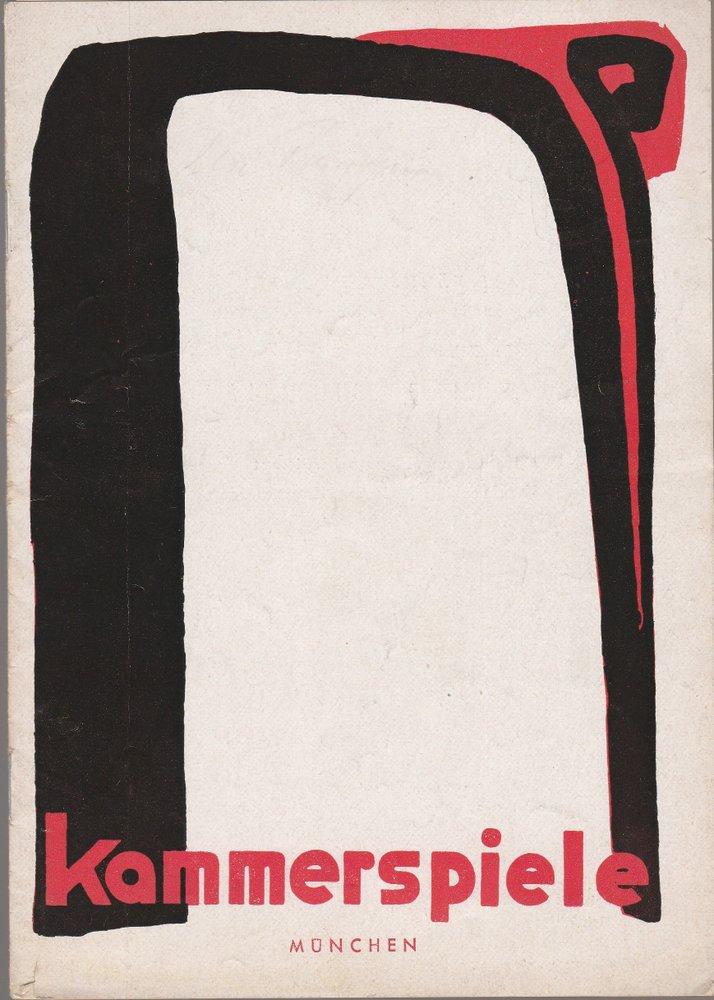 Programmheft Urauff. F. Dürrenmatt D. EHE D. H. MISSISSIPPI  Kammerspiele 1952