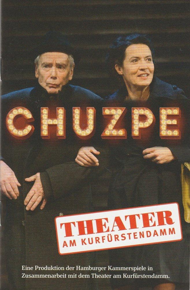 Programmheft Lily Brett CHUZPE Theater Am Kurfürstendamm 2016