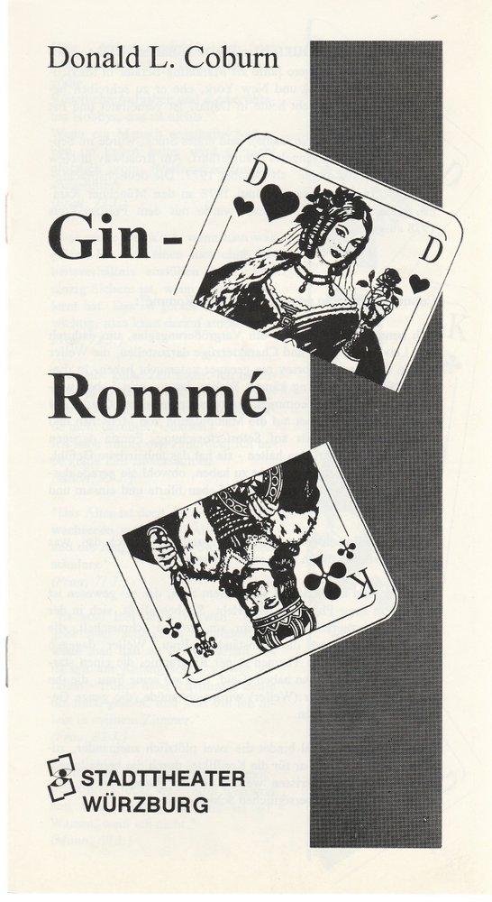 Programmheft Donald L. Coburn GIN ROMME Stadttheater Würzburg 1993