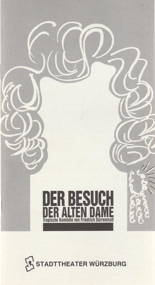 Programmheft F. Dürrenmatt DER BESUCH DER ALTEN DAME Stadttheater Würzburg 1994
