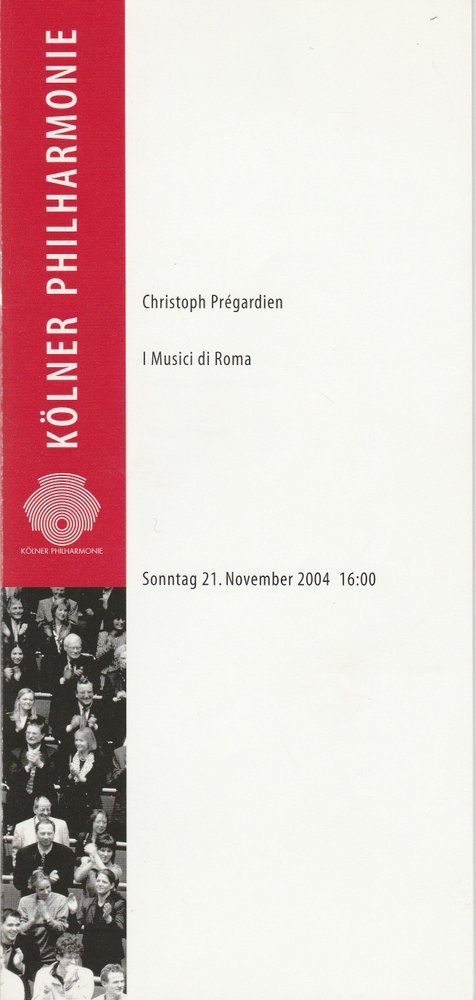 Programmheft I MUSICI DI ROMA Kölner Philharmonie 2004