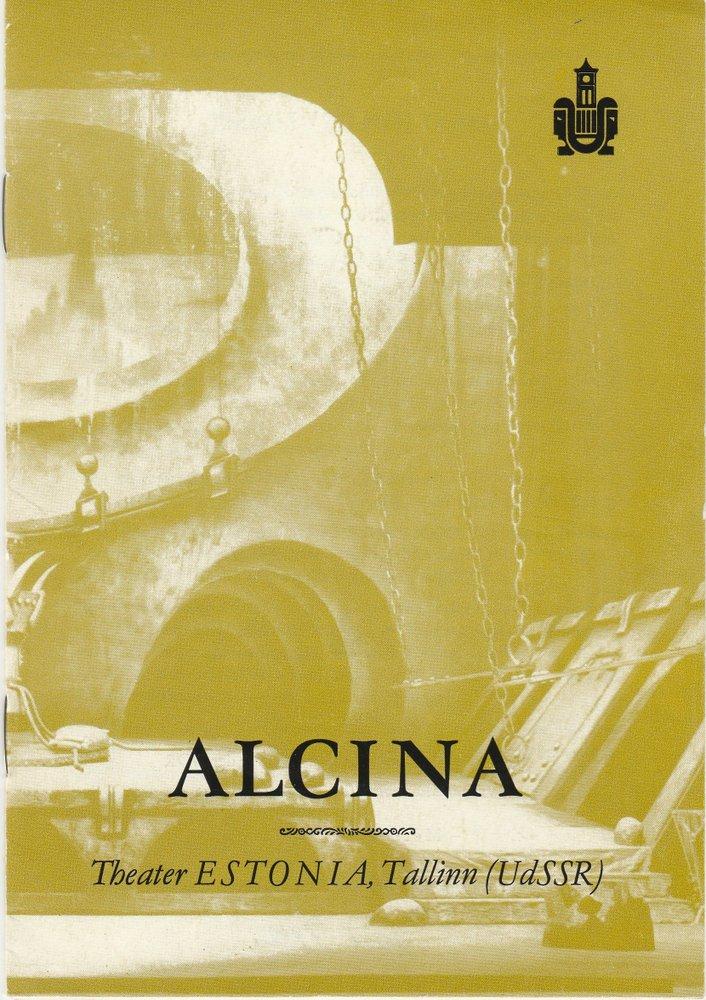 Programmheft Georg Friedrich Händel ALCINA Metropol Theater 1989
