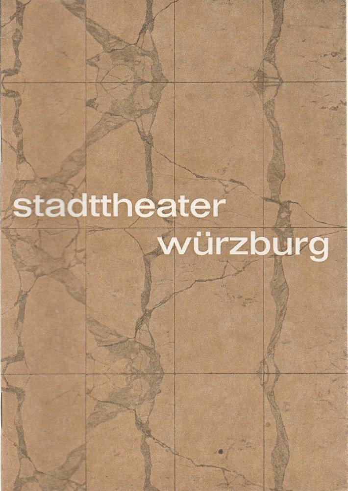 Programmheft W. Shakespeare DER KAUFMANN VON VENEDIG Stadttheater Würzburg 1968