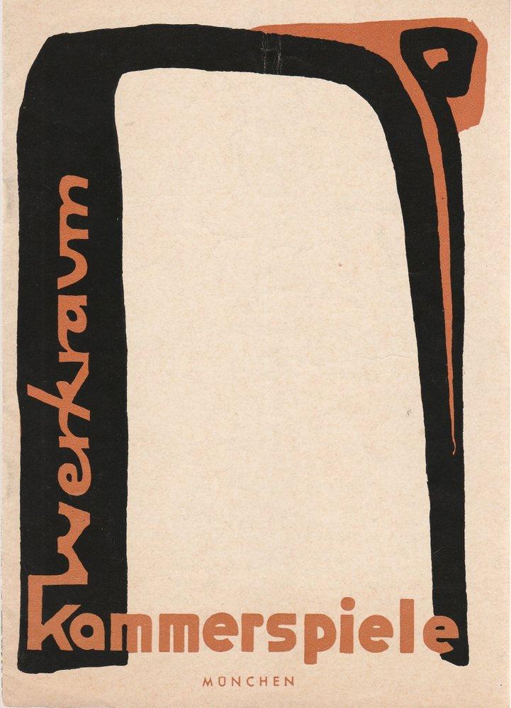 Programmheft STILÜBUNGEN Münchner Kammerspiele 1966