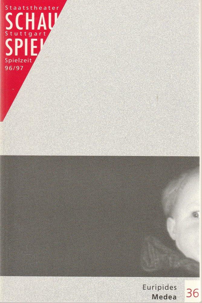 Programmheft Euripides MEDEA Schauspiel Staatstheater Stuttgart 1997