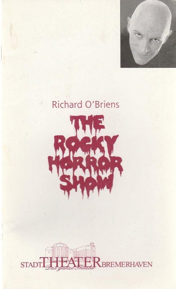 Programmheft Richard O'Brien THE ROCKY HORROR SHOW Stadttheater Bremerhaven 1997