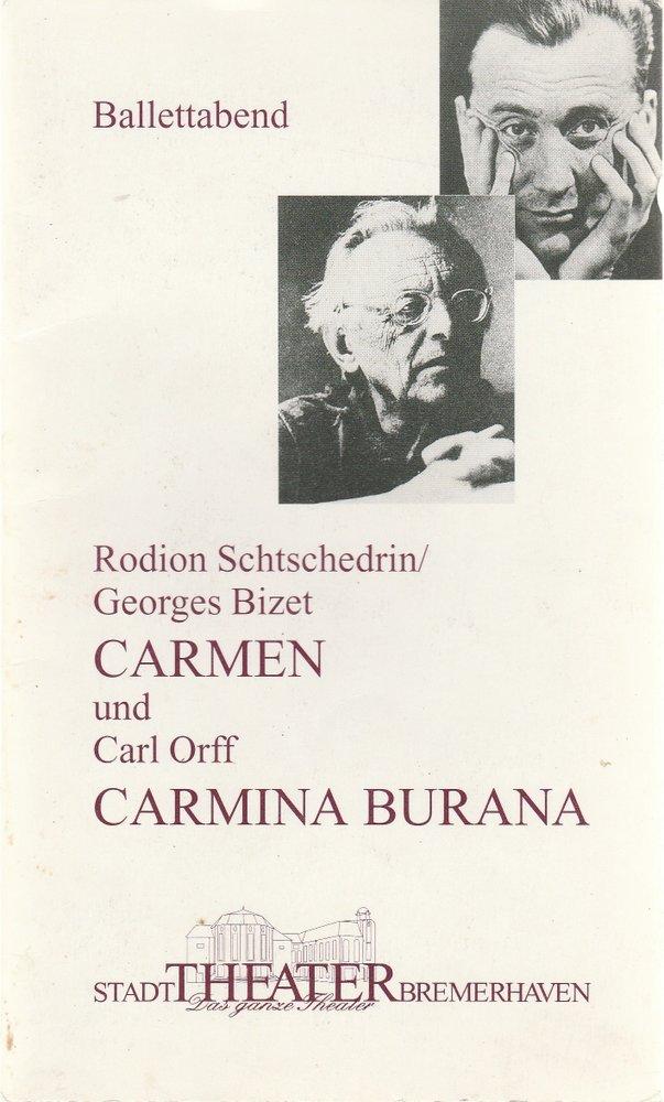 Programmheft BALLETTABEND Stadttheater Bremerhaven 1995