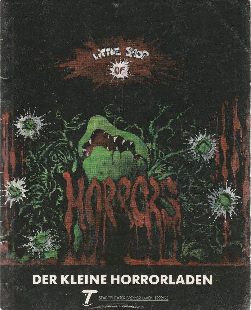 Programmheft Alan Menken DER KLEINE HORRORLADEN Stadttheater Bremerhaven 1993