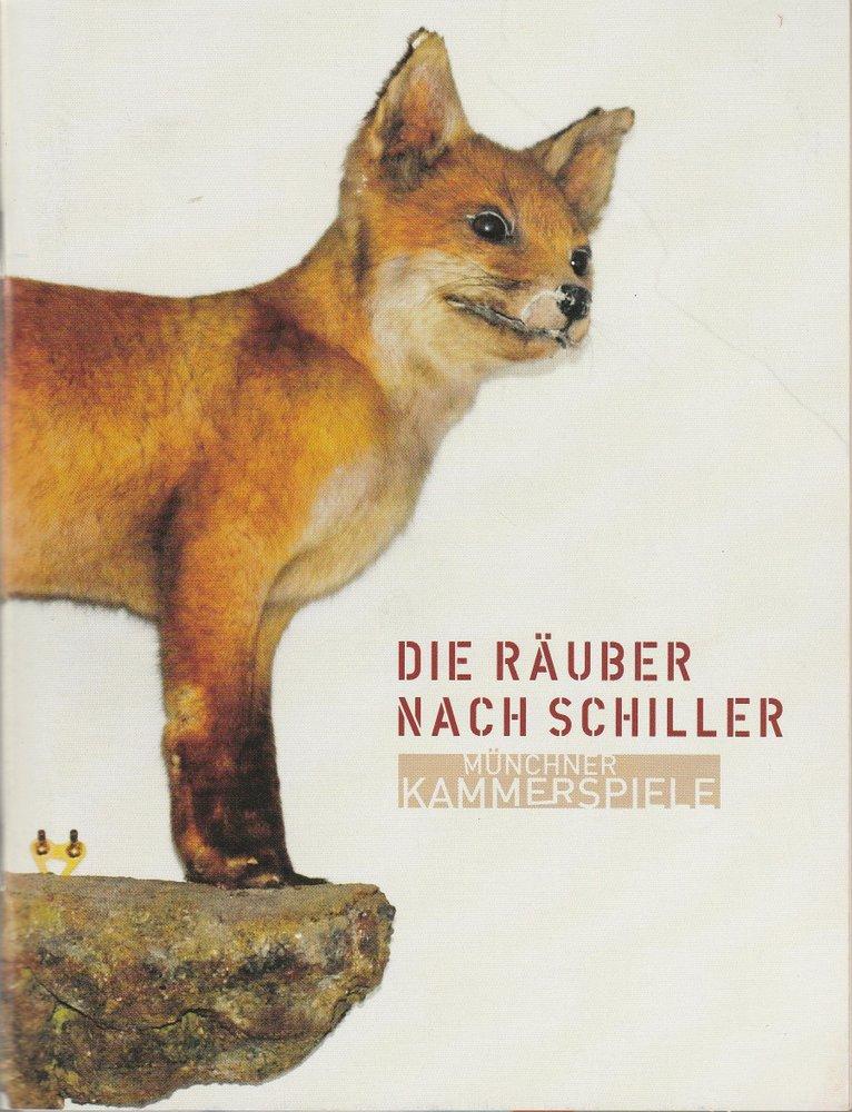 Programmheft DIE RÄUBER NACH SCHILLER Münchner Kammerspiele 2006