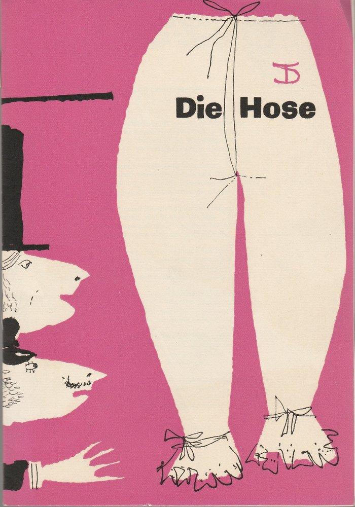 Programmheft Carl Sternheim DIE HOSE Deutsches Theater Berlin 1961