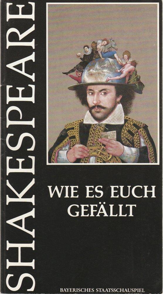 Programmheft W. Shakespeare WIE ES EUCH GEFÄLLT Prinzregentenheater 1988