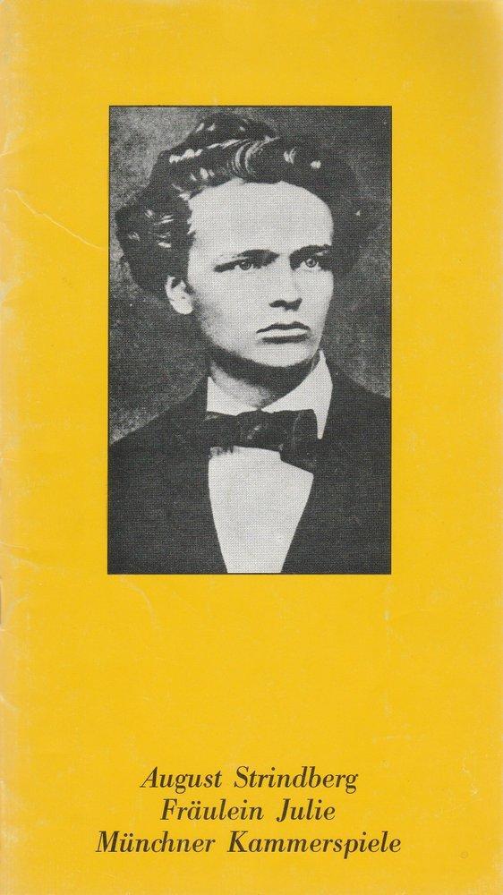 Programmheft August Strindberg FRÄULEIN JULIE Münchner Kammerspiele 1980